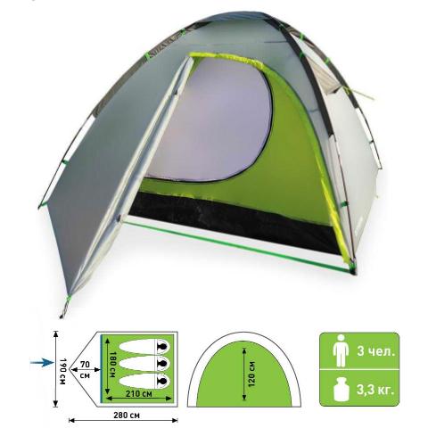 палатка атеми ока 3 местн
