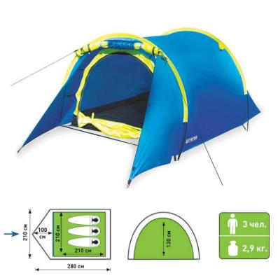 палатка атеми тонга со схемой 2 местн