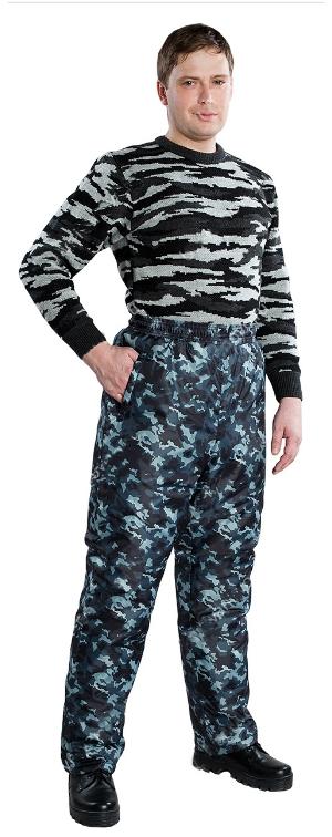 брюки утепленные кмф