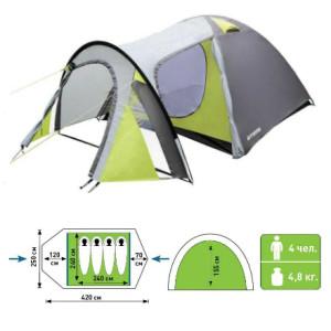 палатка атеми тайга 4 местная со схемой