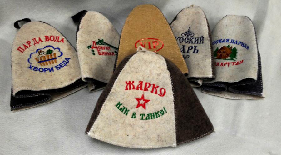 шапки для саун и бань