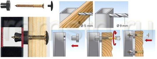 Балконный дюбель для крепления обрешетки к профилю