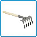 грабли 5 зуб деревянная ручка ава