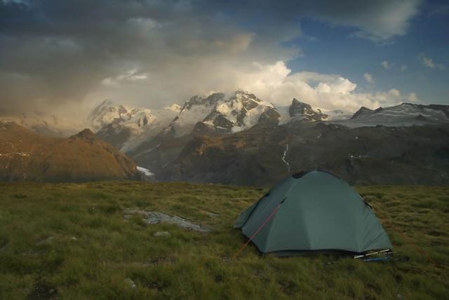 палатка в горах